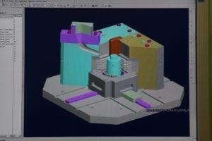 immagine di un disegno tecnico al computer