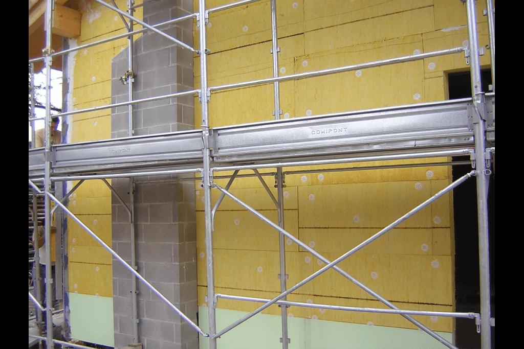 Isolamento a cappotto in lana di vetro