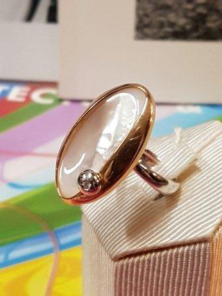 anello madre perla oro rosa Trecate