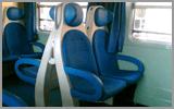 Tappezzeria per sedili del treno