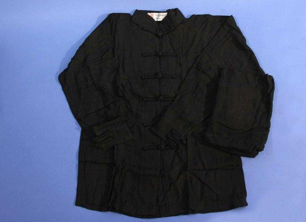 Uniforme kung fu / tai chi in cotone leggero colore nero.