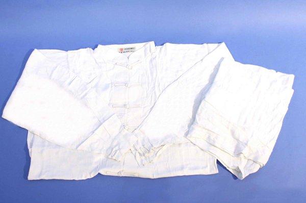 Uniforme kung fu / tai chi in cotone leggero colore bianco.
