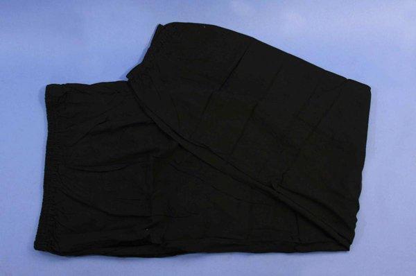 Pantaloni kung fu / tai chi in cotone leggero nero.