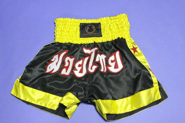 Pantaloncini neri OM per combattimento.