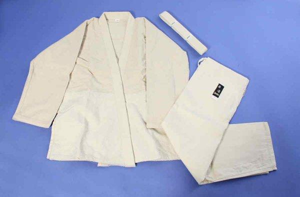 Uniforme judo cotone grezzo. Per bibmi e adulti