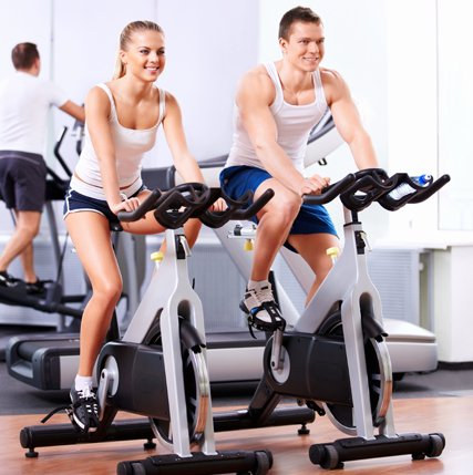 Exercise cycle for fitness on hire