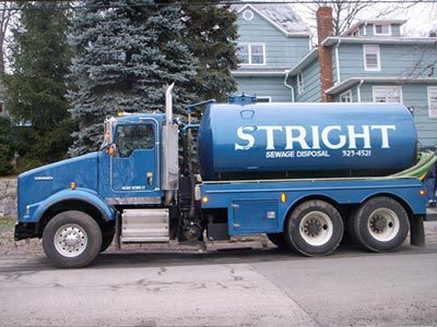 Stright septic truck in Stamford