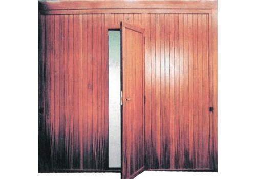 porte basculanti legno