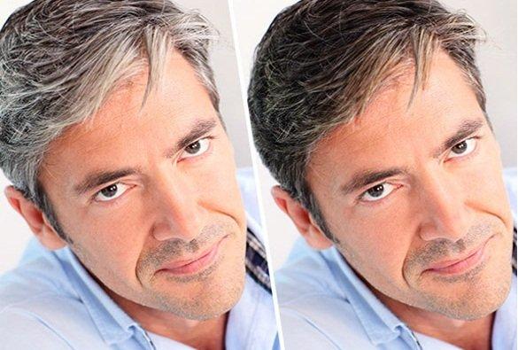 Tinta capelli grigi uomo