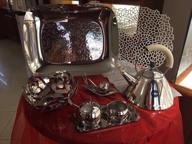 set da tè in argento