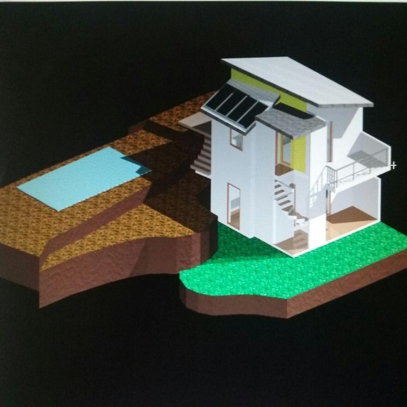 un disegno di una casa