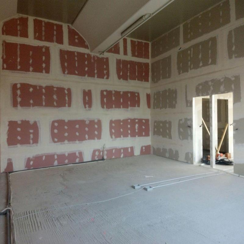dei muri di una casa in ristrutturazione