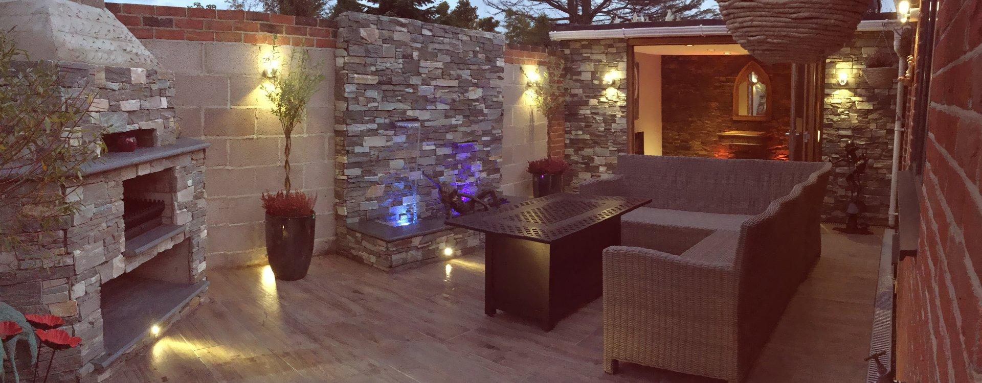 outdoor seating arrangement