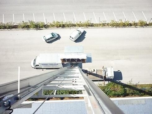 Traslochi con scale aeree
