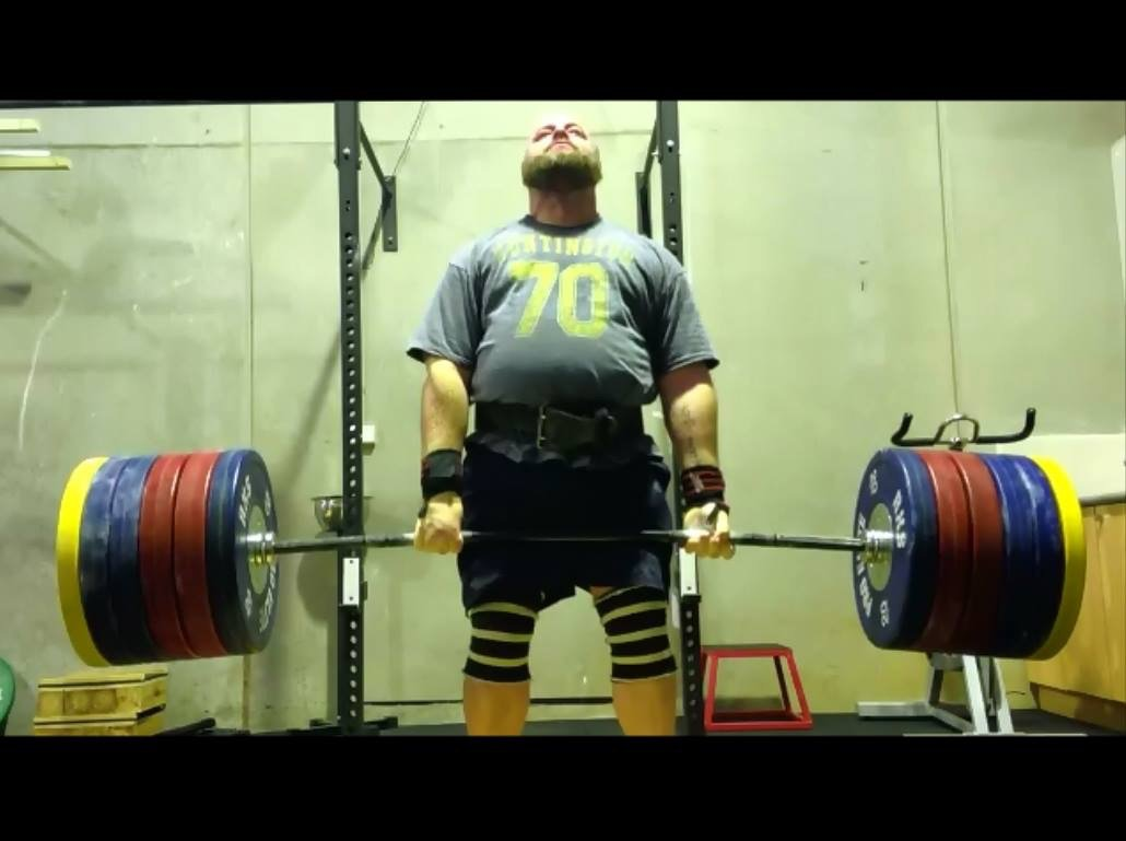 View of an individual in weightlifting