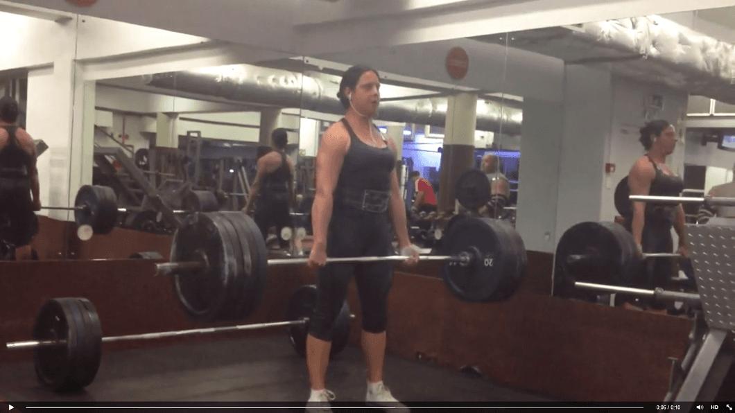 Women doing Heavy weight training