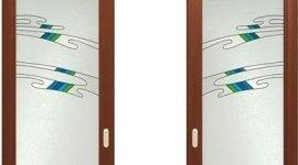 porte con vetro decorato
