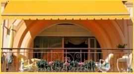 tenda da sole, balcone, tessuto