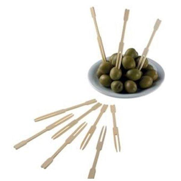 olive e forchettine di legno