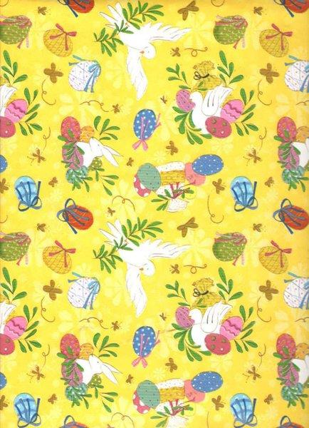 carta da regalo gialla con disegni