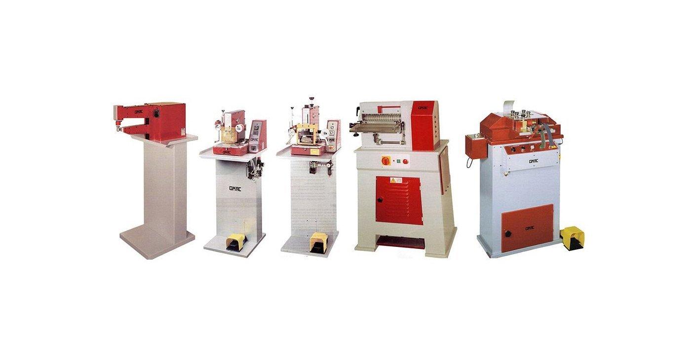 foto di alcuni macchinari industriali per la realizzazione di calzature