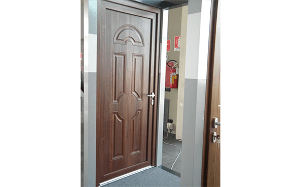 porta blindata marrone