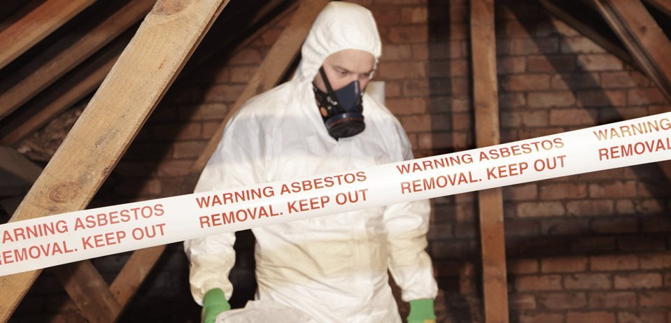 Asbestos removal professional