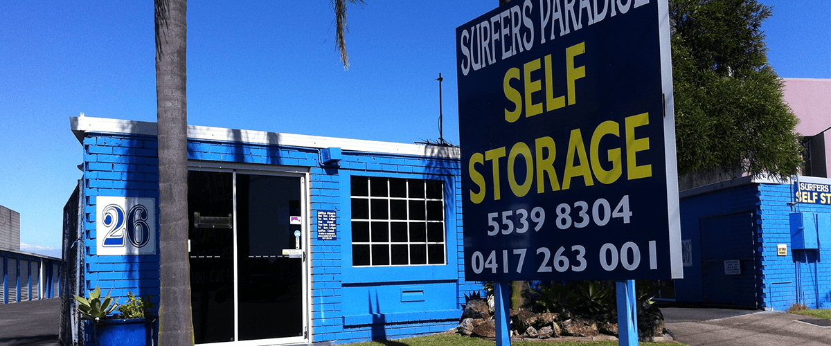 Site of our storage facilities on the Gold Coast