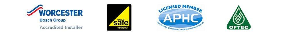 WORCESTER OFTEC GasSafe logos
