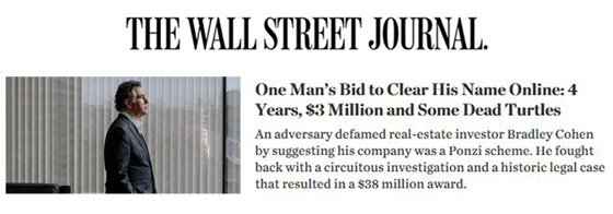 Wall Street Journal: One Man's Bid to Clear His Name Online