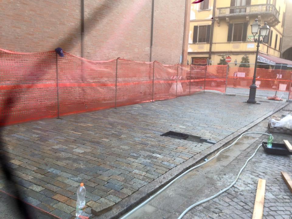 pavimento in pietra di Trani