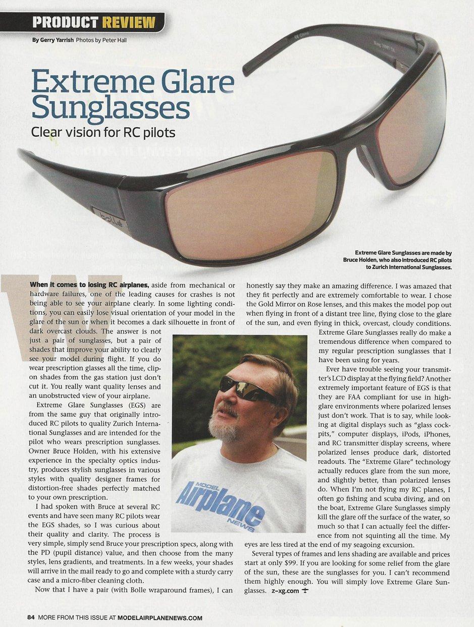 Z-XG Extreme Glare Sunglasses Testimonial