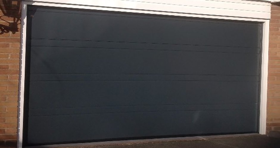 Gray garage door