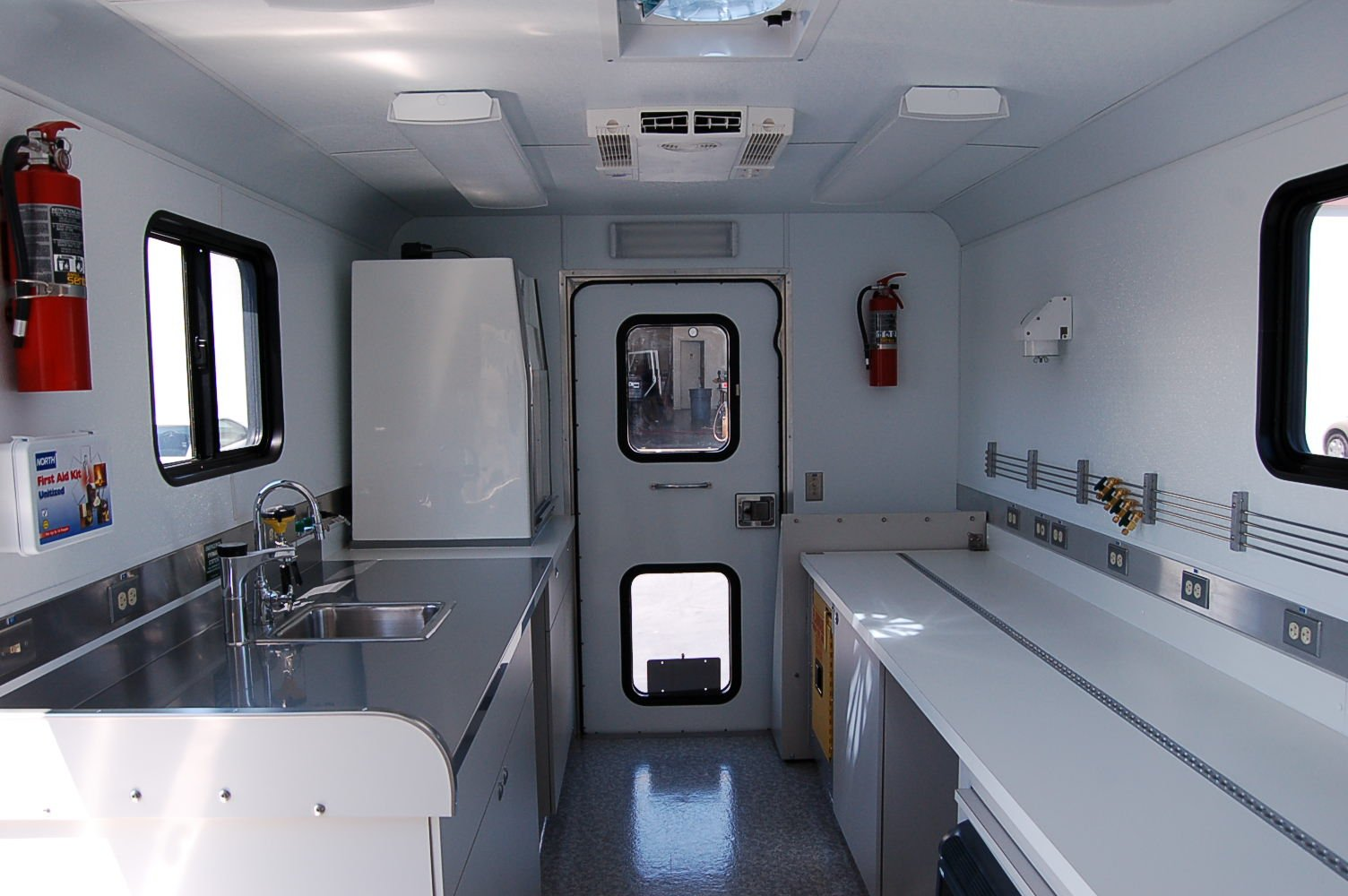 Mobile Laboratory 215-01 Interior Rear to Front