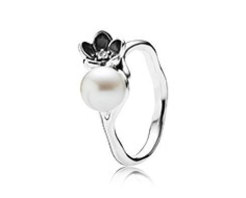 Anello argento con perla