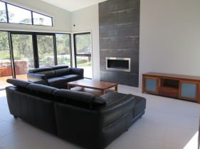 kuner constructions black couch in home