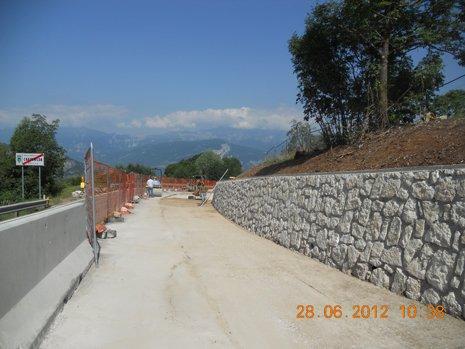 costruzione strade a Folgaria