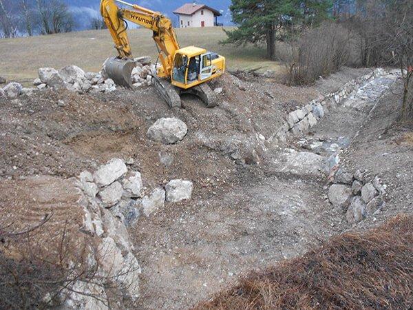 realizzazione opere acquedotti fognature a Folgaria