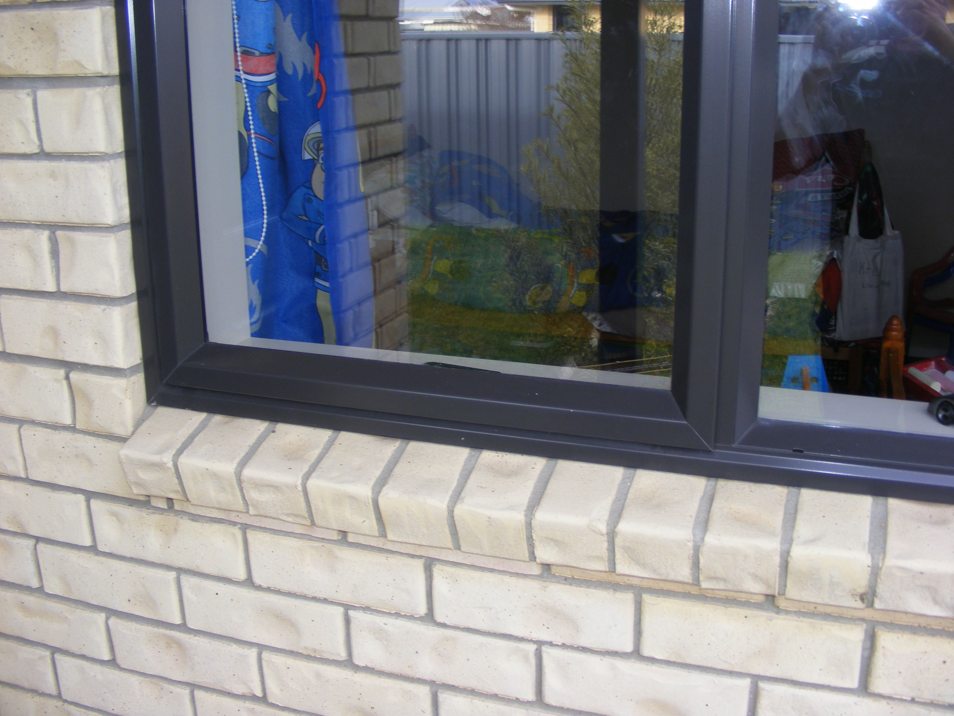 View of the window with screen protection installed