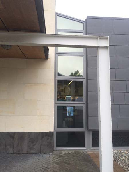 View of the window with screens installed