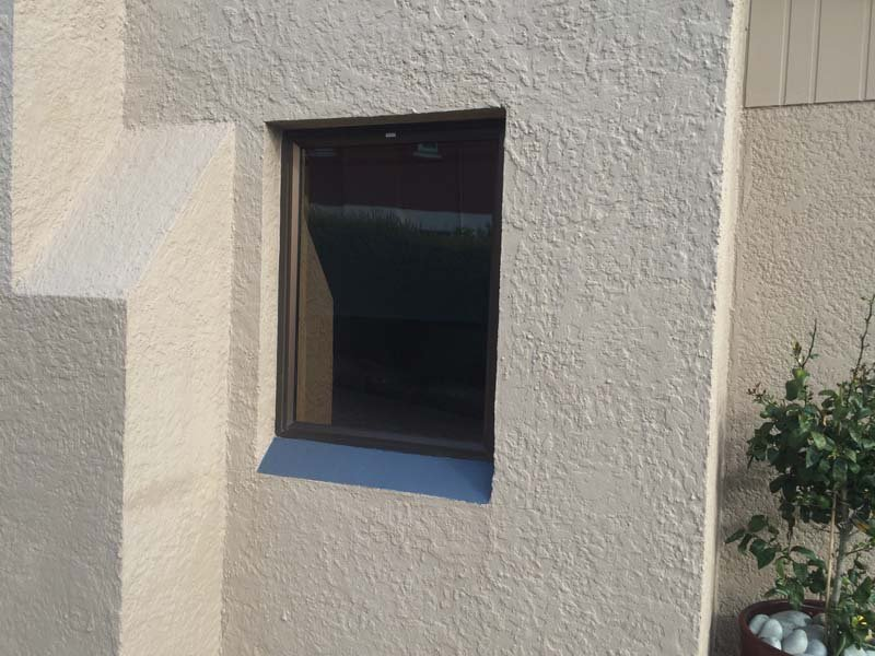 View of the window with thermal screens installed