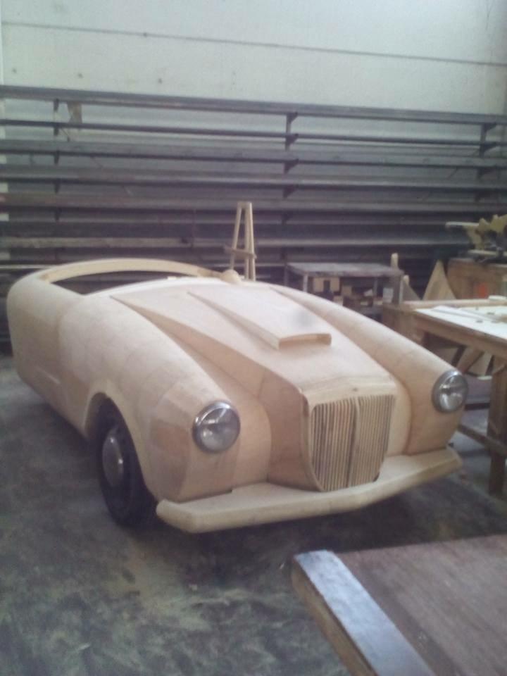 Riproduzione in legno Lancia Aurelia