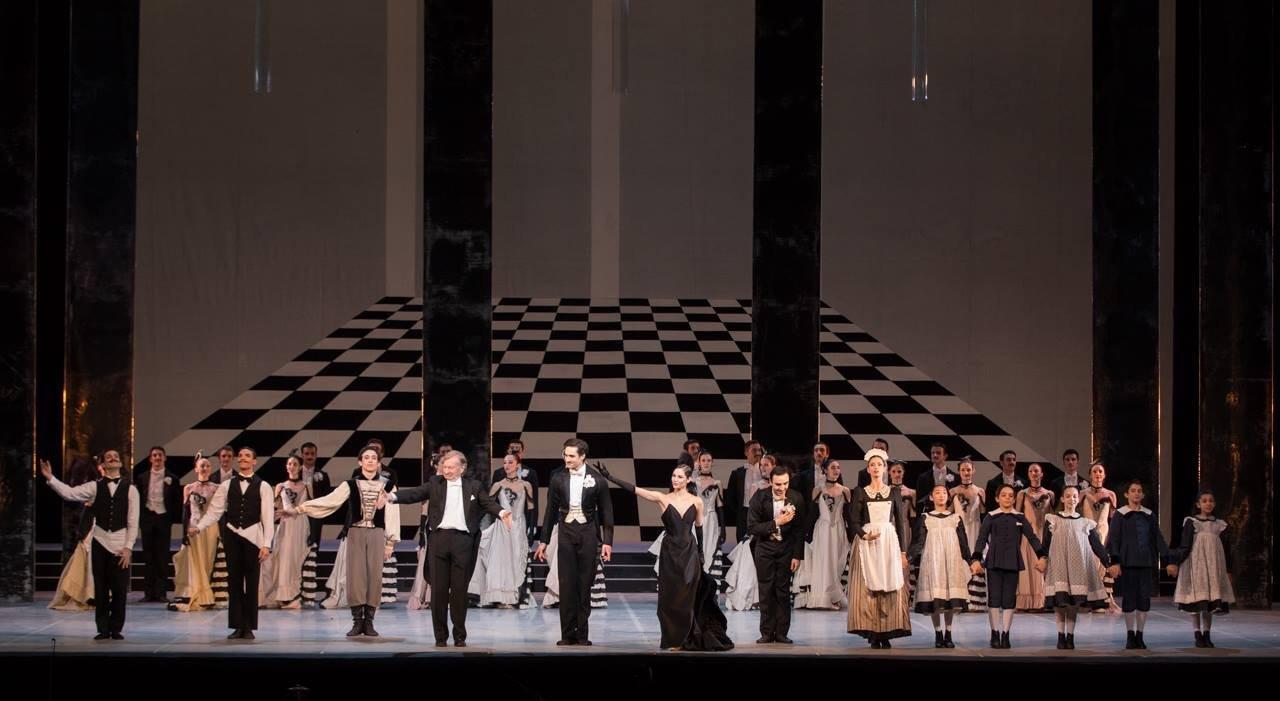 Allestimento scenografico per teatro dell'Opera di Roma