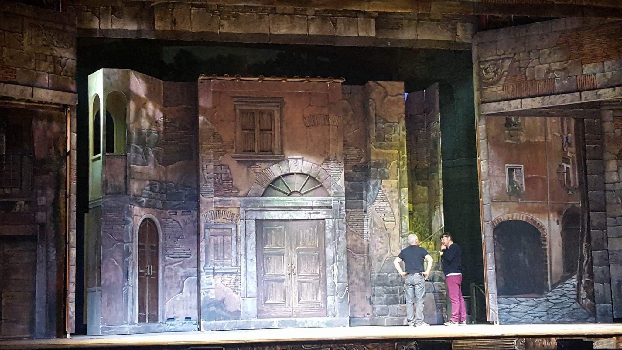 Allestimento scenografico per il teatro