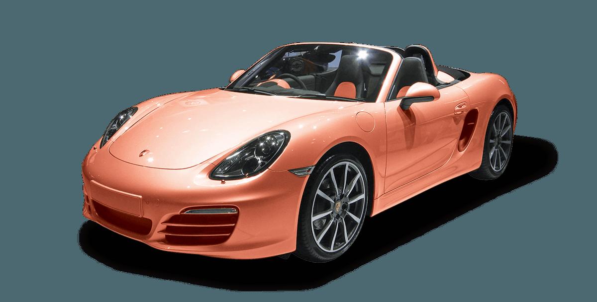 orange colour car
