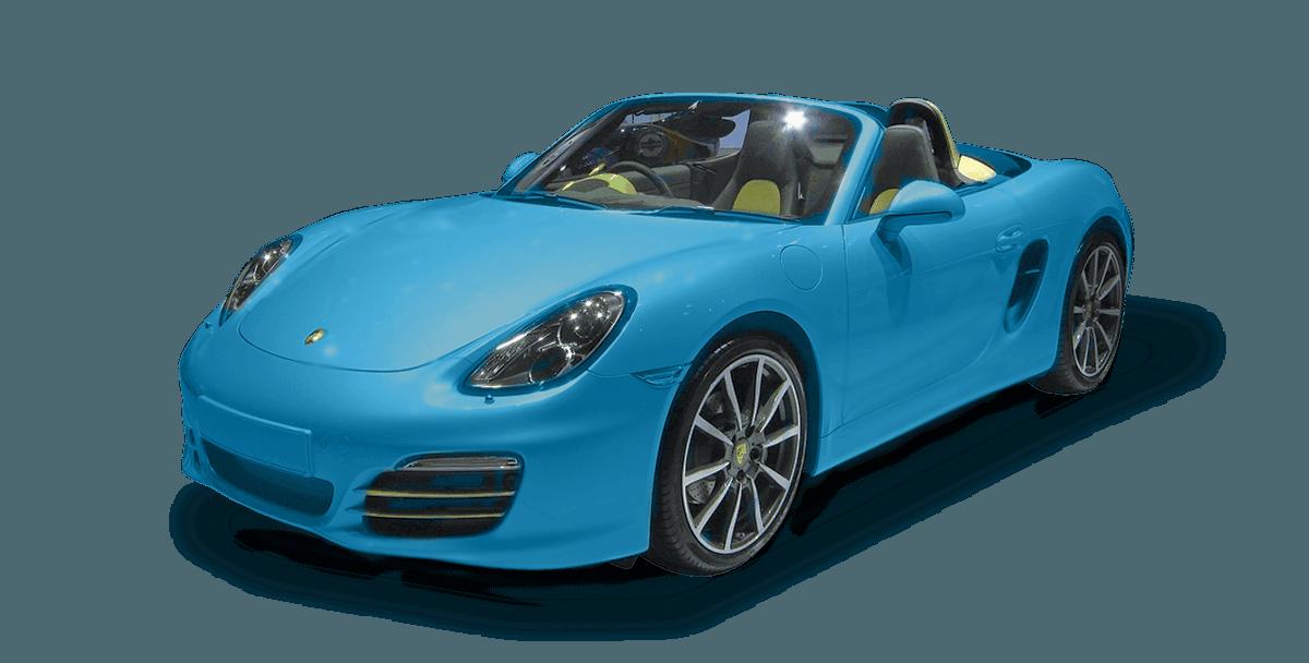 blue colour car