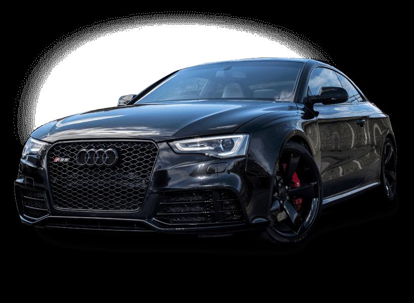 Black Audi car