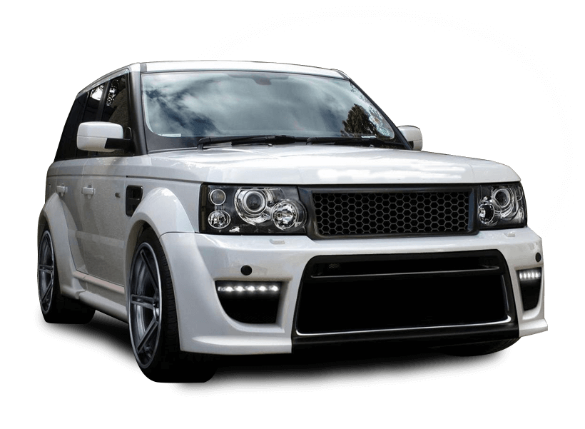 white colour luxury car