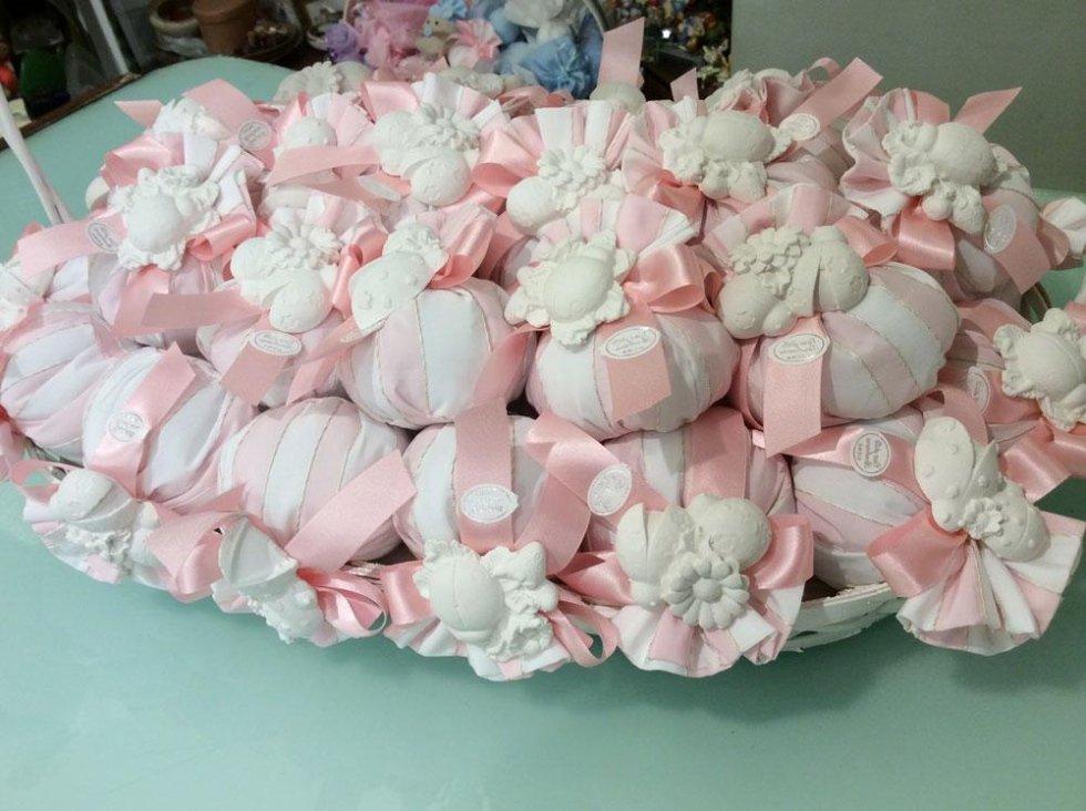 Bomboniere battesimo bambina - Gessi profumati