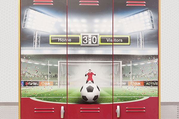 armadio per cameretta calcio